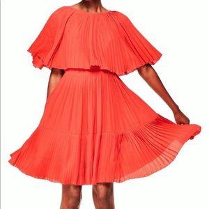 Kate Spade Pleated Cape Dress